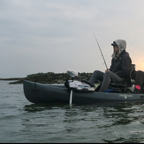 fishing from a kayak